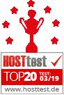 Webhosting Vergleich von hosttest.de