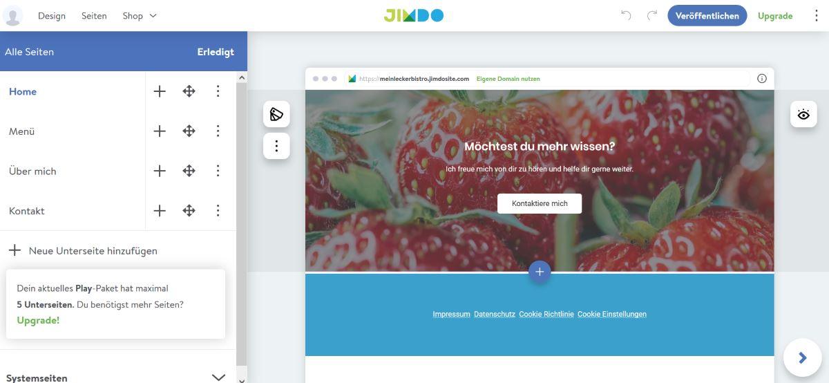 Jimdo Im Test Erfahrungen Mit Dem Homepagebaukasten