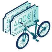 800 EUR Gutschein Fahrradgutschein