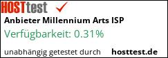 MILLENNIUM ARTS ISP im Hosttest - Webhoster Vergleich